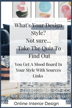 Take the quiz to find out your design style and get a mood board with source links. Interior Design Styles Quiz, Interior Design Services, Dashboard Design, Ios Design, Interiors Online, Boho Designs, Eclectic Design, Interactive Design, Design Thinking