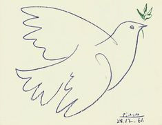 Pablo Picasso's impression of a blue dove.