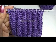 COMO TEJER PUNTO ELASTICO O RESORTE 2019 - YouTube Knitting Videos, Crochet Videos, Knitting For Beginners, Knitting Stitches, Knitting Patterns, Diy And Crafts, Arts And Crafts, Crotchet, Cable Knit