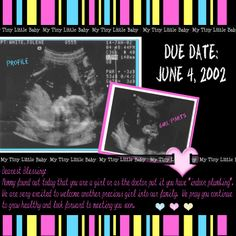 scrapbooking layout ideas | Emma's Ultrasound - Digital Scrapbook Place Gallery
