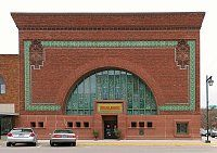 """Louis Sullivan's National Farmers' Bank in Owatonna Minnesota. Known as """"the jewel box of the prarie""""."""