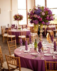 Свадьба в фиолетовом цвете