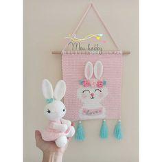 Crochet Wall Hangings, C2c, Knit Crochet, Tapestry, Christmas Ornaments, Knitting, Holiday Decor, Home Decor, Rabbits