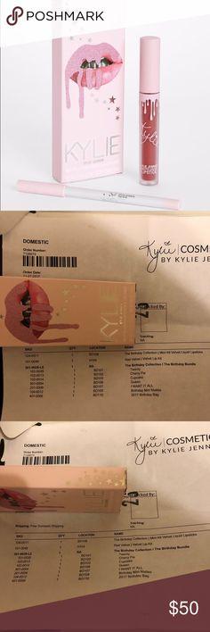 "Kylie Birthday Edition 'Twenty' Lip Kit Authentic Kylie Cosmetics, ""Twenty"" lip kit. Limited edition and sold out. Kylie Cosmetics Makeup Lipstick"