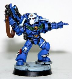 Space Marines, Sternguard, Ultramarines, Warhammer 40,000 - Ultramarines Sternguard - Gallery - DakkaDakka | Its all good until someone loses a bionic eye.