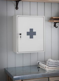 The First Aid Wall Cabinet comes with 3 shelves to store all first aid items in one handy place