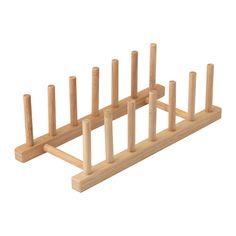 OSTBIT Tallerkenstativ IKEA Laget av bambus som er et lettstelt og slitesterkt naturmateriale.