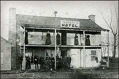 Hubbert's Hotel--the only building left standing in Berryville, Arkansas at the end of the Civil War
