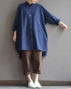 Casual Loose Fitting Short Sleeve Linen Cotton Maxi Dress