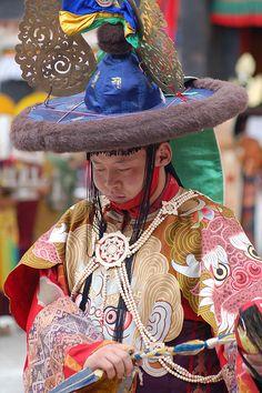 Traditional costume, festival at Shigatse, Tibet by iancowe, via Flickr