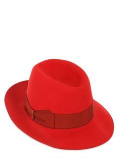 BORSALINO - HARE FELT HAT - LUISAVIAROMA - LUXURY SHOPPING WORLDWIDE  SHIPPING - FLORENCE Moda Fedora a8b1e9a0c033