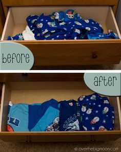 Organizing the Jammie drawer!