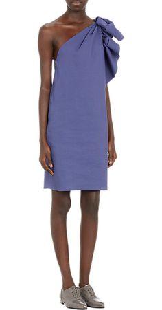 Lanvin Ruched One-Shoulder Dress - Short - Barneys.com