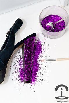 DIY: Glitter shoes ~love the purple