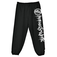 Motionless In White,pants,pajama pants ❤ liked on Polyvore