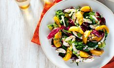 Poached chicken and nectarine salad