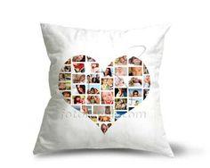 Stampa le foto in compagnia di chi ami su cuscino in formato collage a forma di cuore.  http://www.fotoregali.com/cuscino-dainetto-collage-a-cuore.aspx