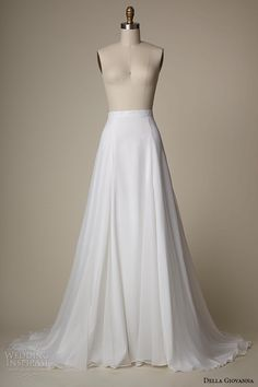 della giovanna wedding dress 2015 bridal silk chiffon a line skirt quinn -- Della Giovanna 2015 Bridal Collection