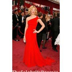 Katherine Heigl Hot Red Chiffon Prom Dress Oscar Red Carpet Dresses - TheCelebrityDresses