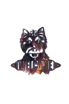 West Highland White Terrier Welcome Sign - CAN BE CUSTOMIZED! by VulcanixArt on Etsy
