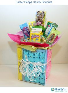 Fully assembled gourmet easter gift basket including candy easter candy bouquet ideas negle Image collections