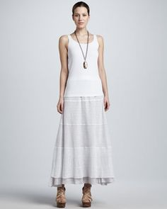 Linen Lace Long Skirt by Eileen Fisher at Neiman Marcus.
