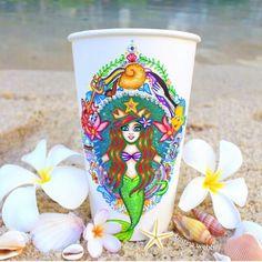 The Little Mermaid starbucks cup - Kristina Webb