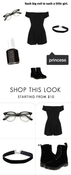 """Capricorn Lolita/Nymphet"" by remington-6 ❤ liked on Polyvore featuring Topshop, Miss Selfridge, Dr. Martens and Essie"