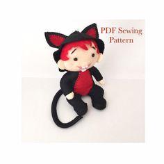 Felt Fox, Felt Birds, Kitty Costume, Cat Costumes, Monkey Pattern, Dragon Pattern, Party Kit, Sewing Basics, Pdf Sewing Patterns