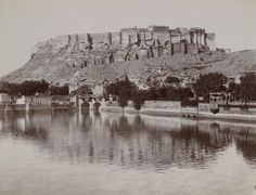 Vintage photo of the Mehrangarh Fort, Jodhpur, India