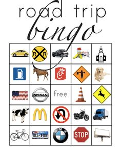 Want to play road trip bingo with your kids? These road trip printables make it fun and easy! Road Trip Car Games, Car Trip Activities, Road Trip Bingo, Fun Activities For Kids, Car Games For Kids, Bingo For Kids, Diy For Kids, Road Trip With Kids, Family Road Trips