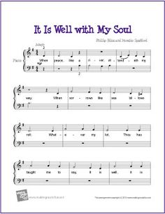 It Is Well with My Soul | Free Sheet Music for Easy Piano (Scheduled via TrafficWonker.com)