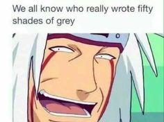 Hahaha :))) Pervy Sage Jokes…  #JiraiyaSensei #Writer #Sannin #Funny