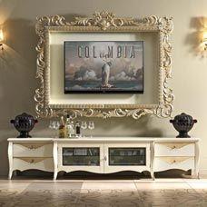 Base CM44R - cm 237 x 50 x 50 h / TV frame PC180R - cm 179 x 20 x 138 h (inside cm 139 x 15 x 94 h)