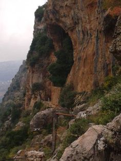 Monastery Carved in the Rocks. Kadisha (Holy) Valley, Lebanon.