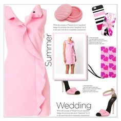 """""""Summer Weddings"""" by atelier-briella ❤ liked on Polyvore featuring Giuseppe Zanotti, MSGM, Forever 21, chic, Clutch, summerwedding and Elegance"""