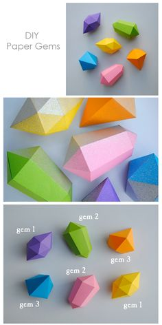 DIY paper gems from DFM & kenziepoo