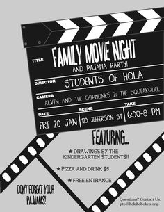 Superior Flyers Are A Great Way To Promote Your Movie Night. Send Them Home In Each  Students Bag.