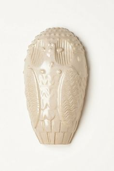 White Owl Wall Sculpture
