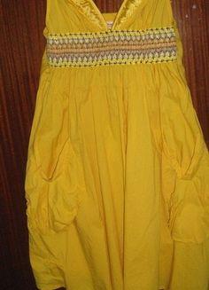 Kup mój przedmiot na #vintedpl http://www.vinted.pl/damska-odziez/krotkie-sukienki/4391114-zolta-letnia-sukienka-na-ramiaczkach