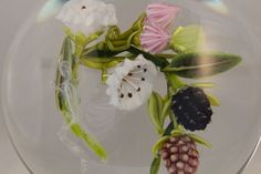 Remarkable PAUL STANKARD Floral GHOST Root SPIRIT Art GLASS Paperweight, Signed, US $2,500.00 in Pottery & Glass, Glass, Art Glass