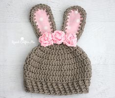 It's basically spring but I know a lot of you are still have heavy winter weather. This chunky bunny crochet hat will keep those heads warm! Made with Bernat Softee Chunky yarn that is soft and makes the hat a quick one to work up. But the best part of all is that the chunky yarn allows for the ears to stand up without any other support on the inside!