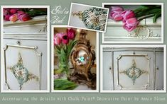 Girl in Pink: Sonora Phonograph Cabinet Makeover and Accentuating Details with Chalk Paint®