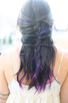 Blue purple ombre braid @Alicia Peralejo Moree I'm obsessed with these.