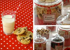 the cookie bar - like the paper in the actual jar