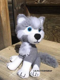 269d267e520 Husky crochet pattern · Crochet WolfCrochet AnimalsThick ...