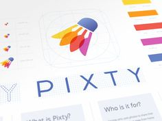 The branding we designed a while ago for a cool app called Pixty: https://www.pixty.com/  ---  Visit our store → store.ramotion.com ♥ Use code DRIBBBLE30 for 30% discount.