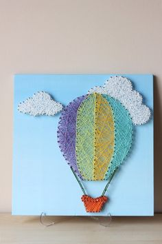 Hot Air Balloon String Art Hot Air Balloon by mintiwall on Etsy