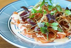St Kat's style Harissa Cured Salmon Entrees, Salmon, Seafood, The Cure, Spaghetti, Ethnic Recipes, Entertaining, Amazing, Style