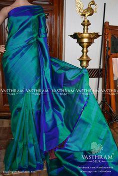 Peacock green plain Cost: 7800 inr Whatsapp:  91 7019277192
